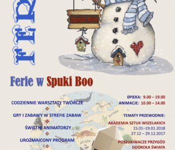 Ferie Świąteczne i Zimowe w Spuki Boo – zapisy. Oferta specjalna dla czytelników Miasta Dzieci!
