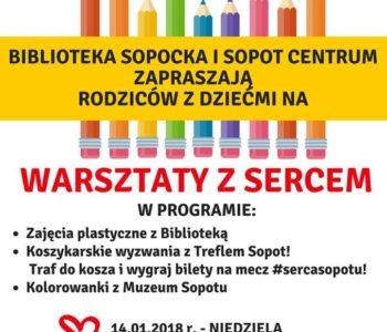 Warsztaty z sercem - Biblioteka Sopocka z Centrum Sopot dla WOŚP