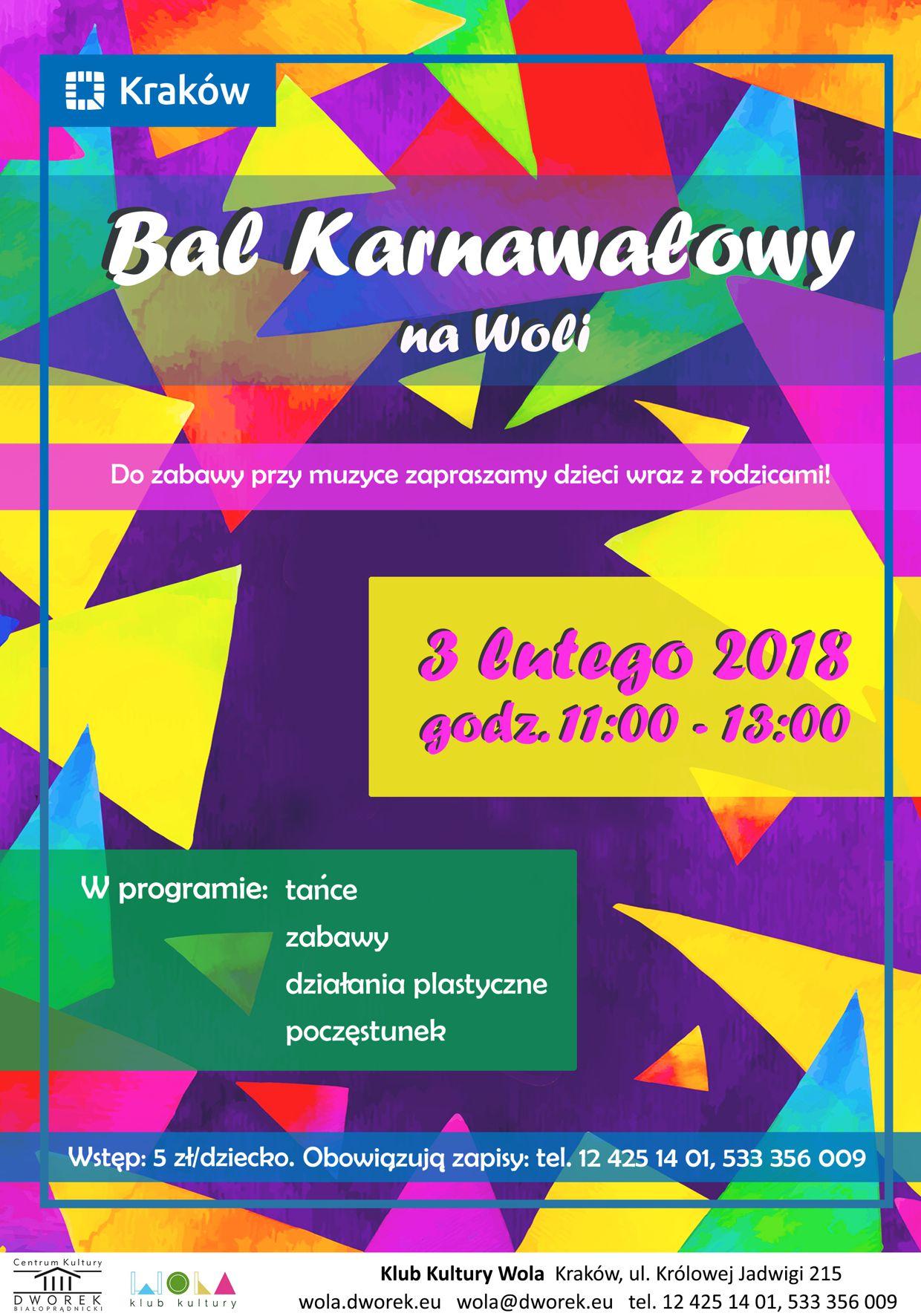 Bal Karnawałowy dla dzieci w Klubie Kultury Wola