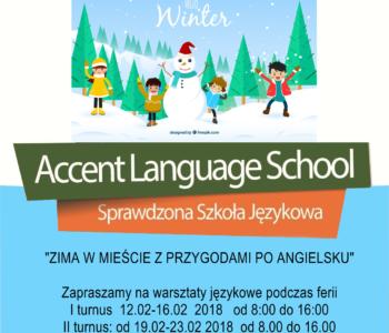 Językowe ferie 2018 w Accencie – zima w mieście z przygodami po angielsku