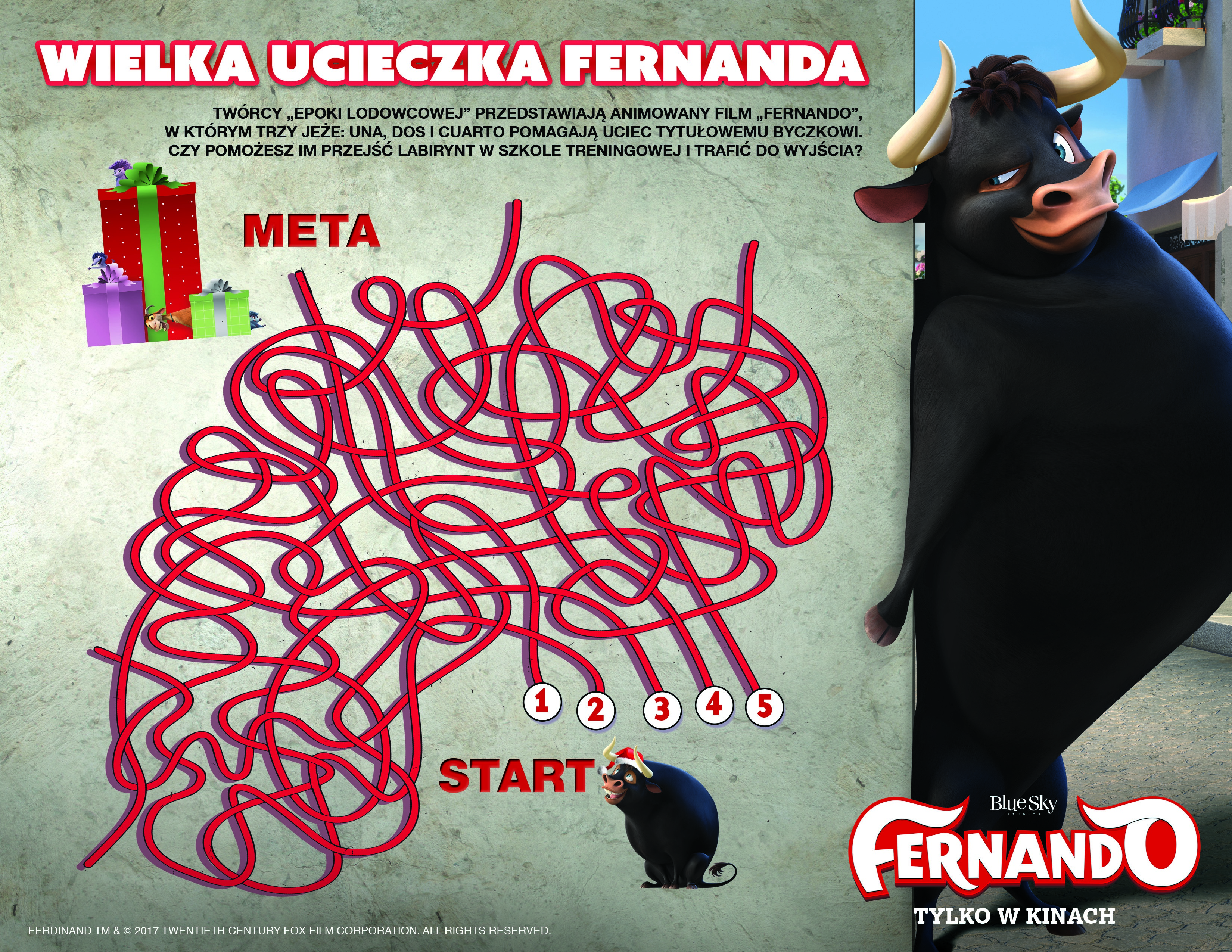 Fernando labirynt do druku dla dzieci