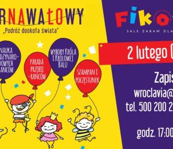 karnawał atrakcje dla dzieci bal dla dzieci Warszawa 2018
