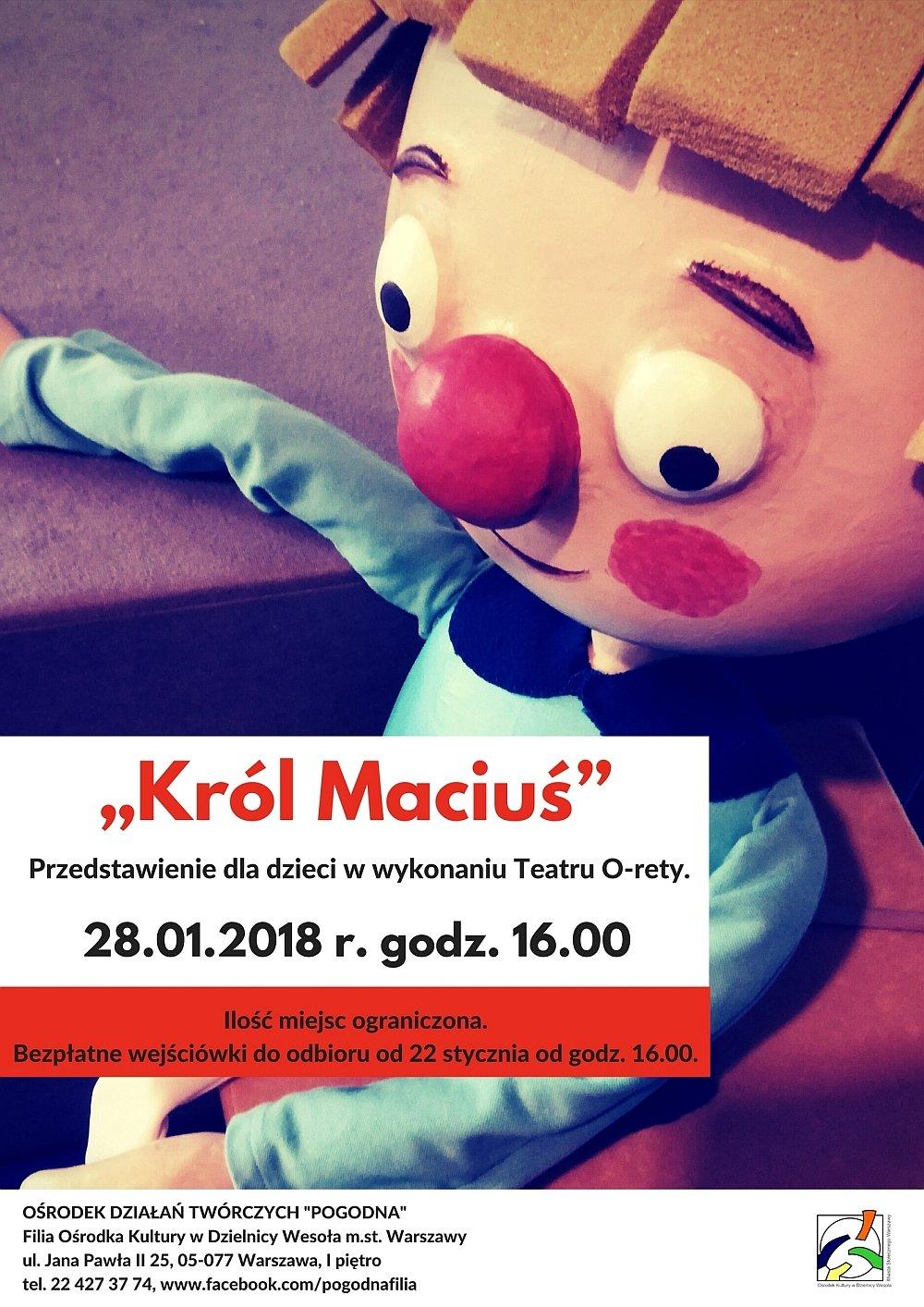 Król Maciuś - teatr dla najmłodszych