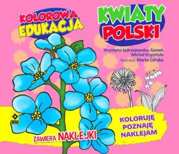 Kolorowa edukacja.  Kwiaty Polski – kolorowanka
