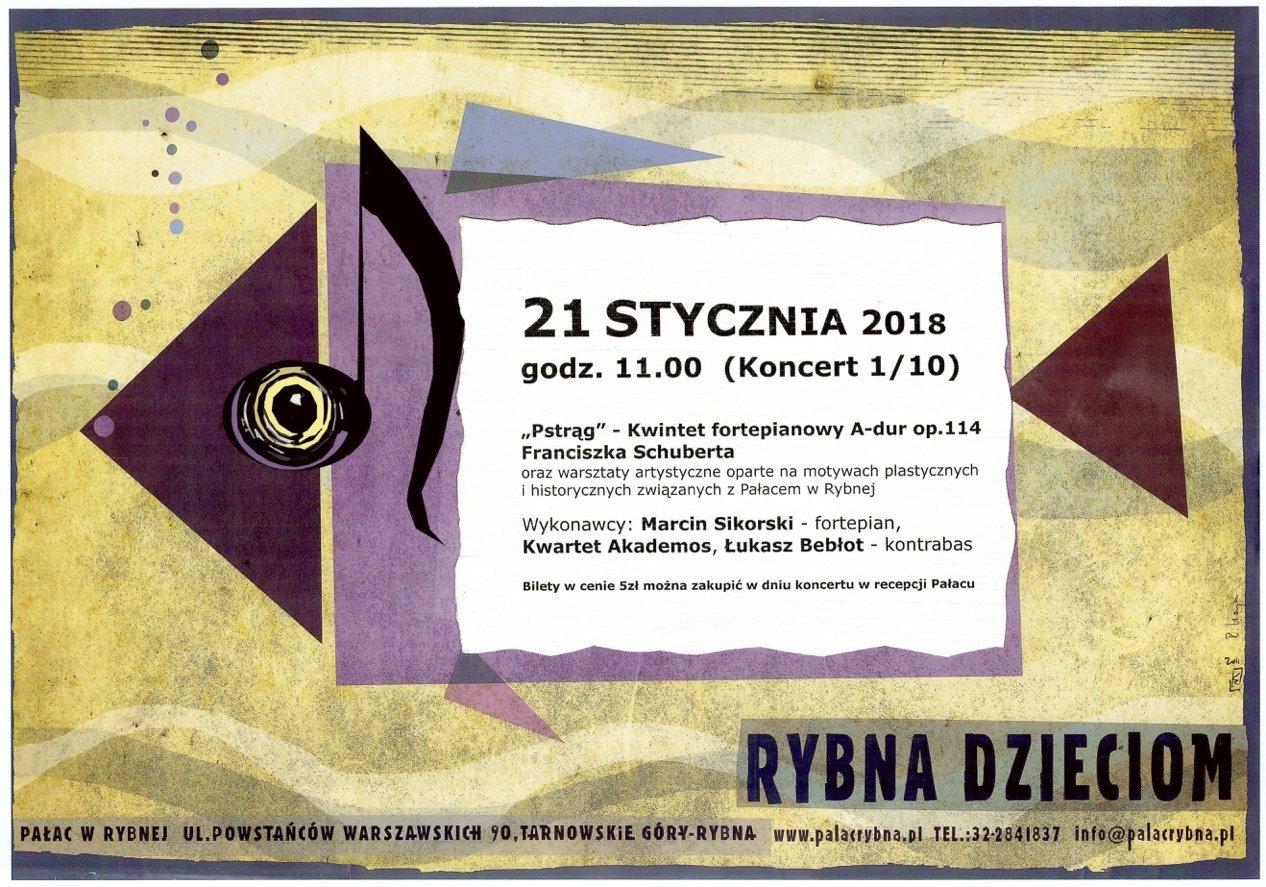 Koncert dla dzieci w Pałacu w Rybnej - Rybna Dzieciom 2018