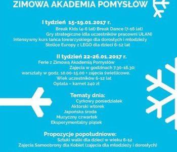 Ferie zimowe: Zimowa Akademia Pomysłów