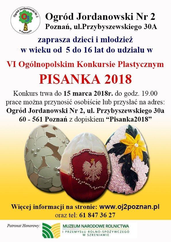 Ogólnopolski Konkurs Plastyczny – Tradycje wielkanocne. Pisanka 2018