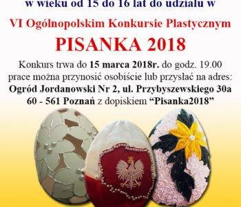 VI Ogólnopolski Konkurs Plastyczny – Tradycje wielkanocne. Pisanka 2018