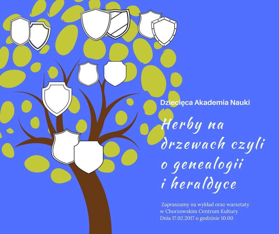 Zajęcia w Dziecięcej Akademii Nauki: Herby na drzewach