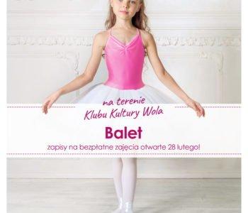 Balet w Klubie Kultury Wola –  bezpłatna lekcja