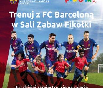 Trenuj z FC Barceloną w Salach Zabaw Fikołki