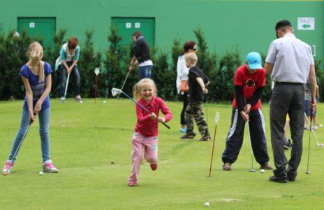 golf-dziecko i rodz