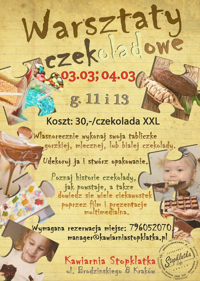 Marcowe warsztaty czekoladowe dla dzieci w Stopklatce