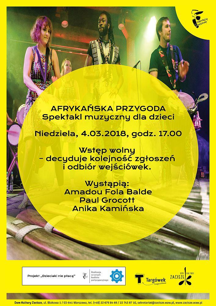 Spektakl muzyczny dla dzieci: Afrykańska Przygoda