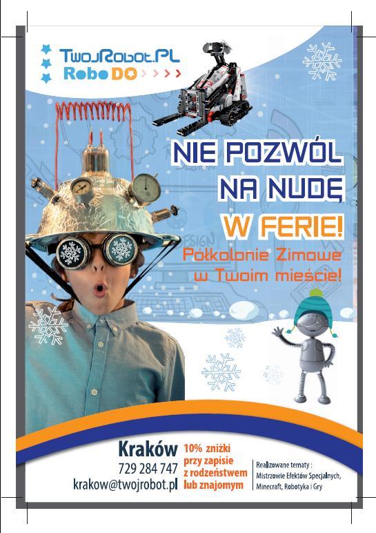 Minecraft , Robotyka i programowanie – półkolonie zimowe w Krakowie. ZAPISY !!!