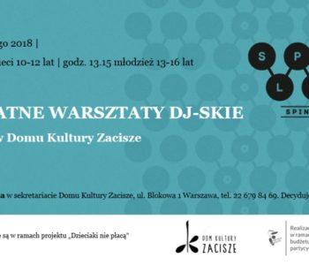 Bezpłatne warsztaty DJ-skie dla dzieci i młodzieży