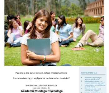 Akademia Młodego Psychologam dla młodzieży