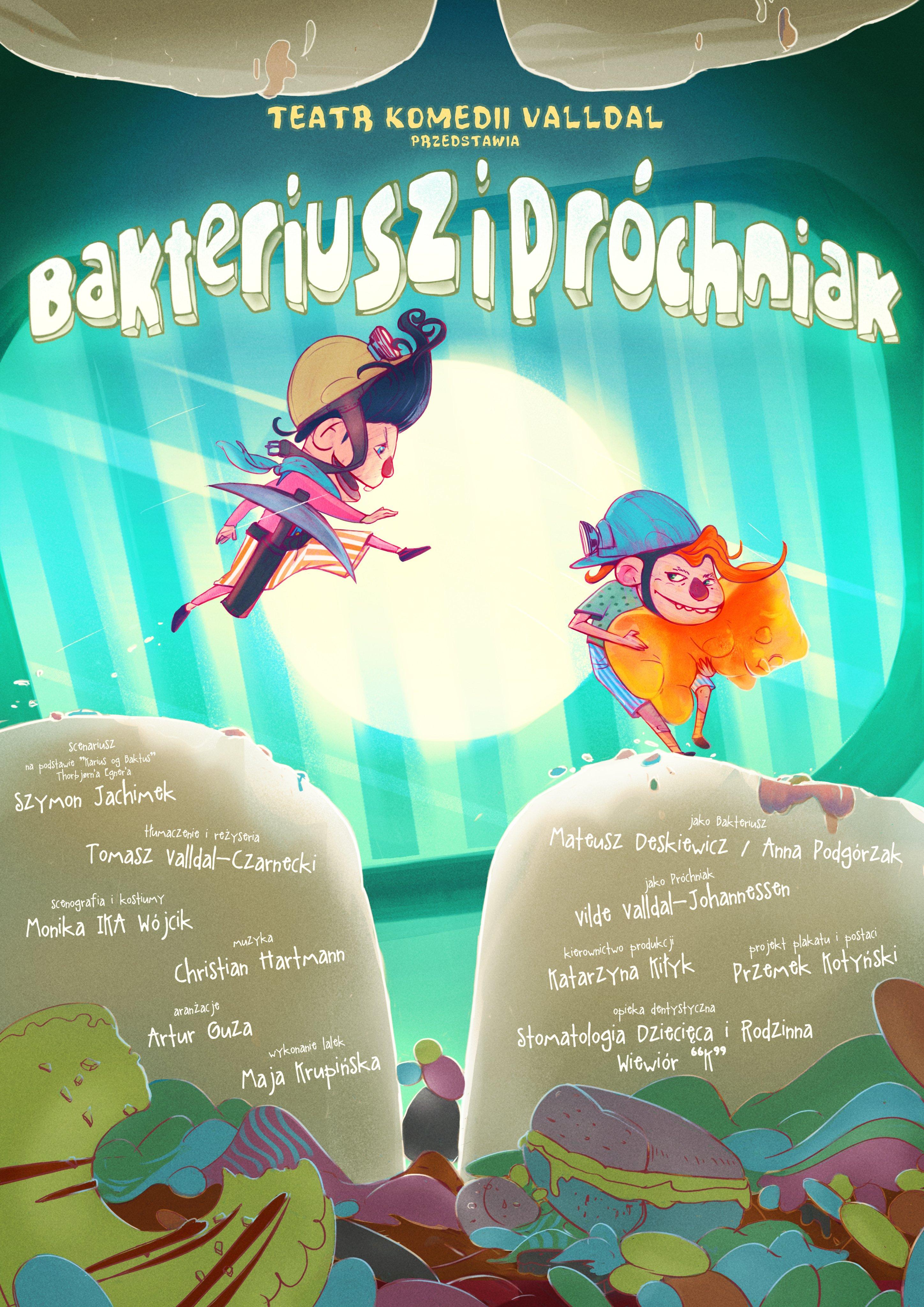 Spektakl Bakteriusz i Próchniak w Teatrze na Plaży
