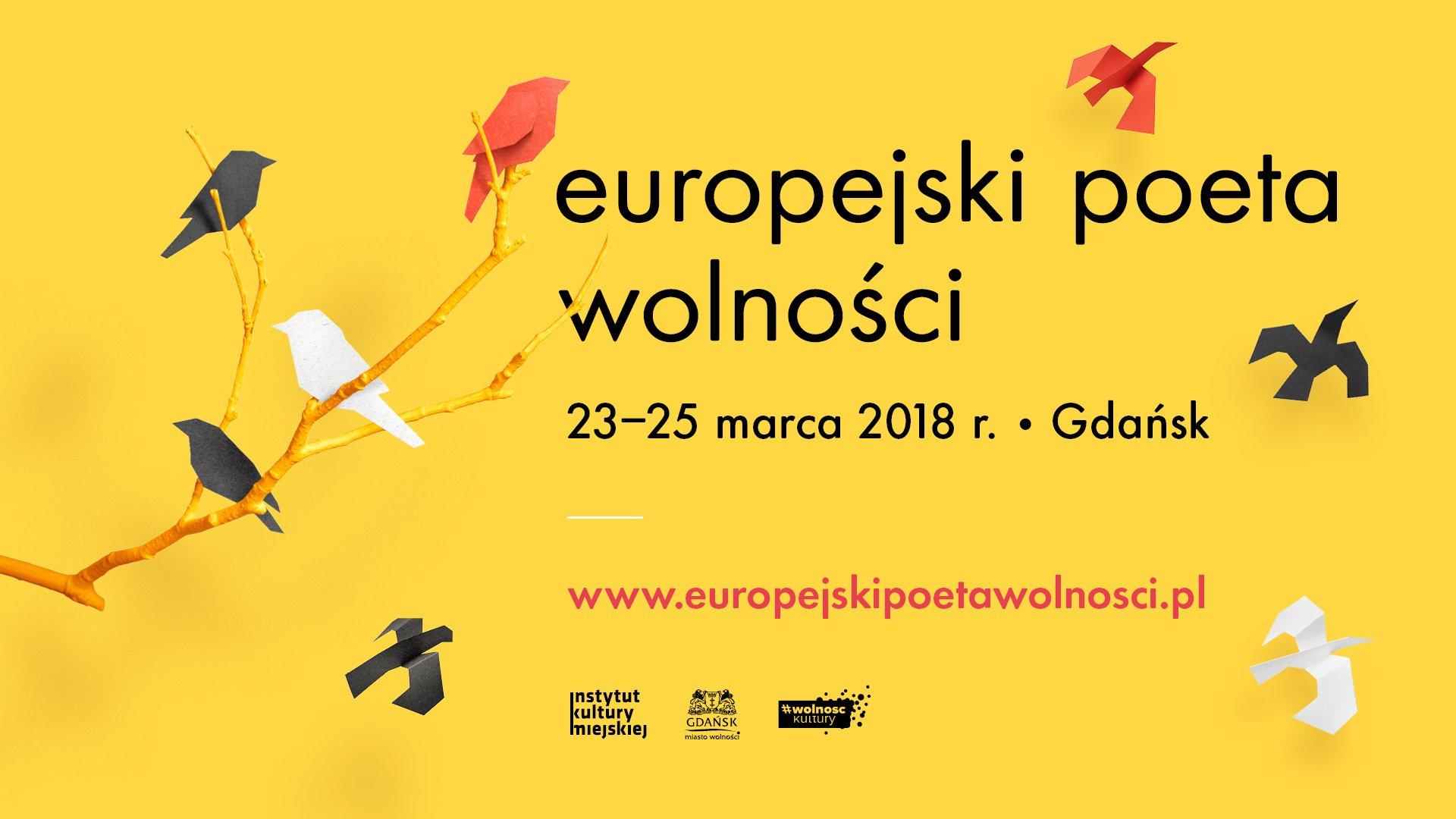 Zaplanuj weekend z poezją. Program Festiwalu Europejski Poeta Wolności