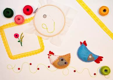 Igłą i nitką malowane - Wielkanocne warsztaty dla dzieci