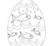 Pokoloruj jajko. Wielkanocne pisanki - kolorowanki do druku