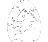 Malowanka z pisanką wielkanocną. Wielkanocne kolorowanki do druku