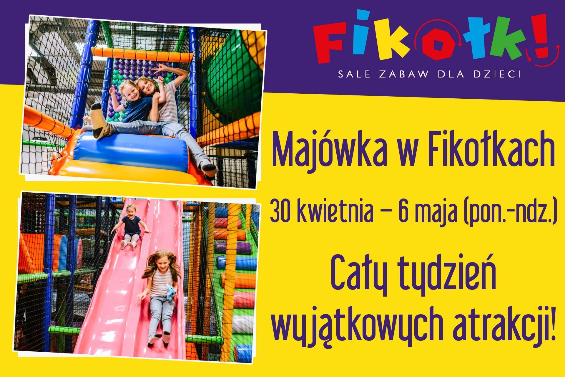 Majówka dla dzieci w Fikołkach - atrakcje dla dzieci na Majówkę we Wrocławiu