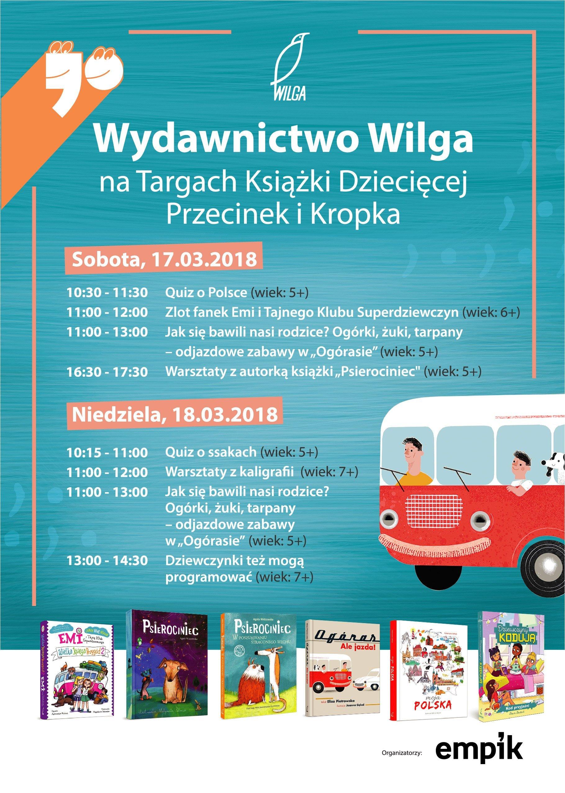 Wydawnictwo Wilga Targi Książki Przecinek i Kropka