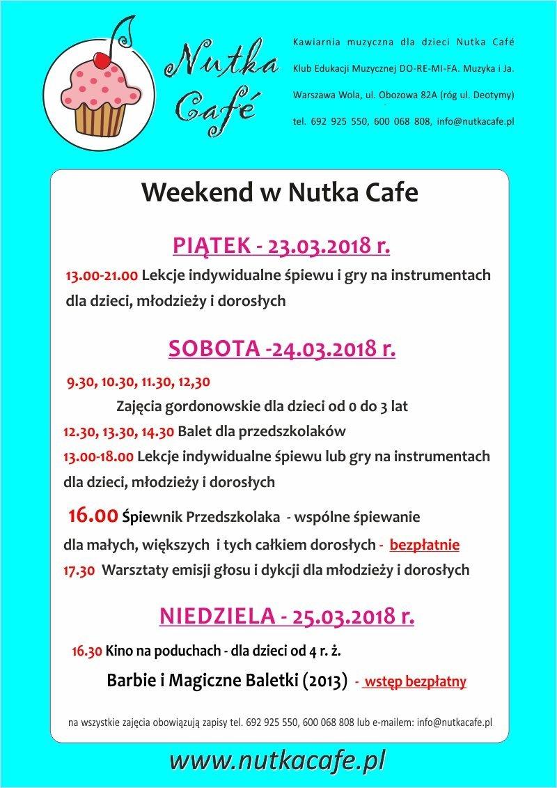 Weekend w Nutka Café. Zapraszamy