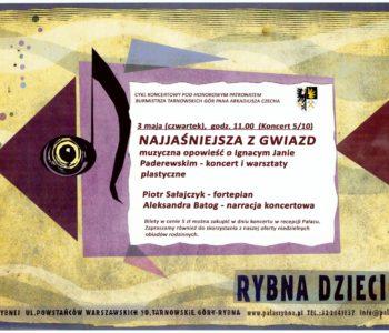 Świętujemy 3 maja - koncert dla rodzin w Pałacu w Rybnej