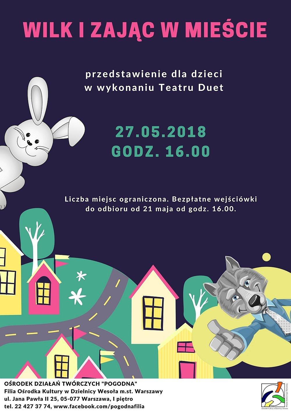 Wilk i zając w mieście - spektakl dla dzieci