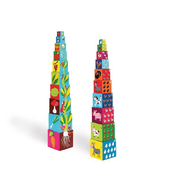 piramida edukacyjna - zabawki konstrukcyjne dla dzieci