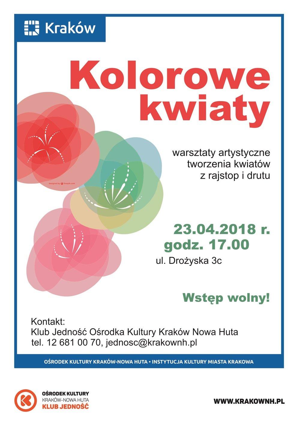 Kwietniowe wydarzenia dla rodzin w Klubach Ośrodka Kultury Kraków-Nowa Huta