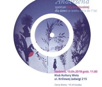 Kartki Pana Andersena- spektakl Teatru Figurki w Klubie Kultury Wola