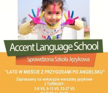 Wakacyjne warsztaty językowe w Accencie! Przygoda z angielskim