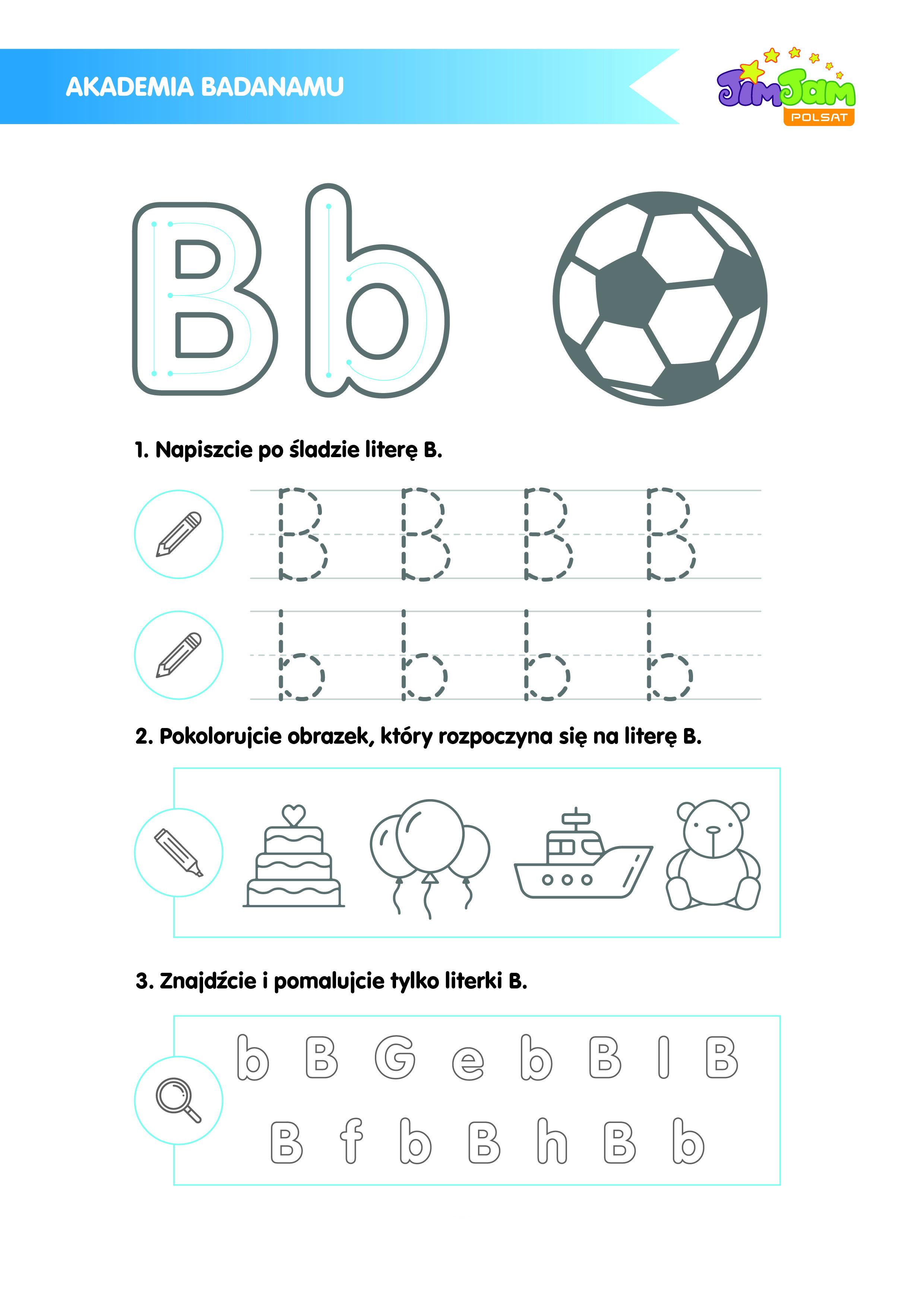 Zabawy z literką B z serialu Badanamu