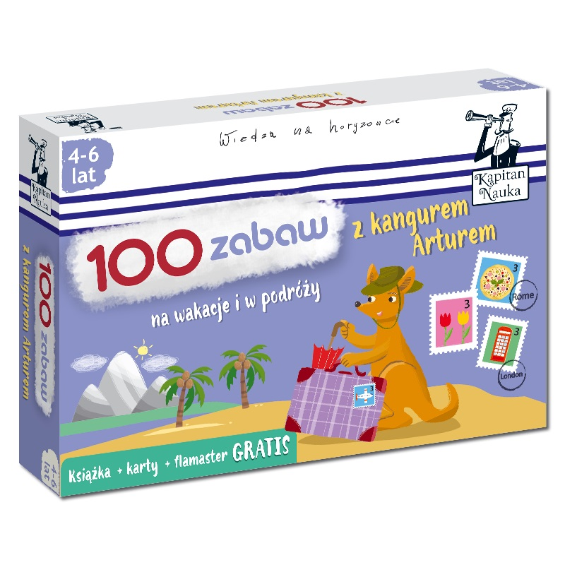 100 zabaw z kangurem Arturem - karty obrazkowe i książka