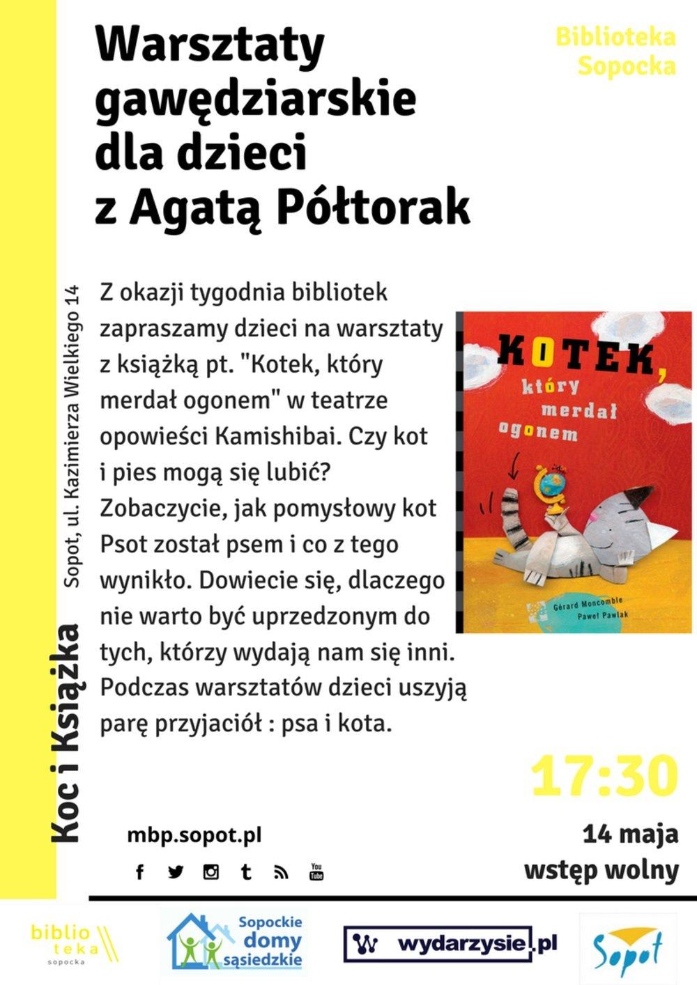 Warsztaty gawędziarskie dla dzieci z Agatą Półtorak