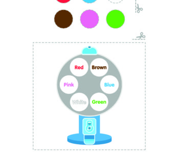 Kolorowe kółka do nauki kolorów z serialu Badanamu