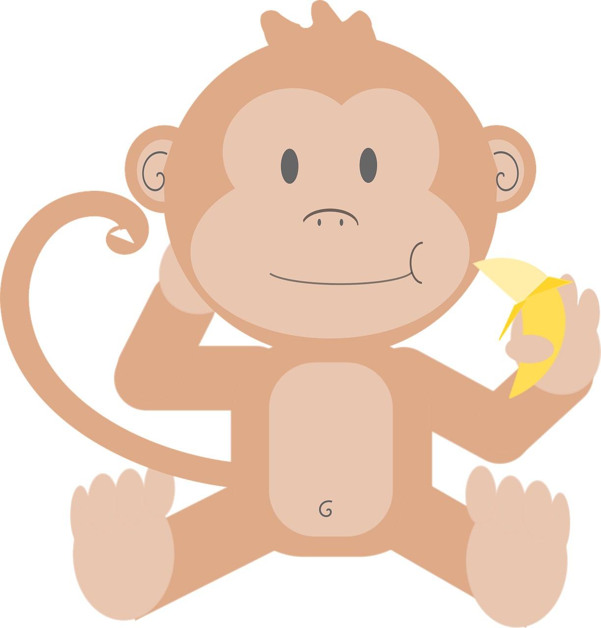 Małpa w kąpieli, stary wierszyk dla dzieci