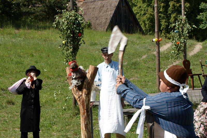 Zielone Świątki - ścinanie kani w Muzeum we Wdzydzach
