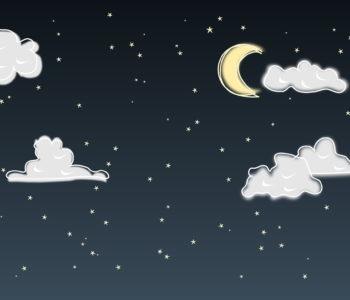 Księżyc ziewa, gwiazdka mruga