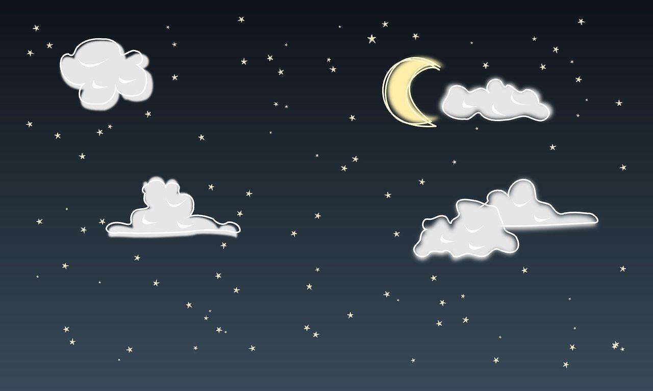 Księżyc ziewa, gwiazdka mruga, wierszyk na dobranoc dla dzieci