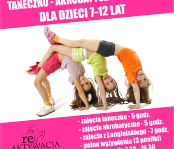 Półkolonie taneczno-akrobatyczno-językowe w Studio Tańca reAKTYWACJA