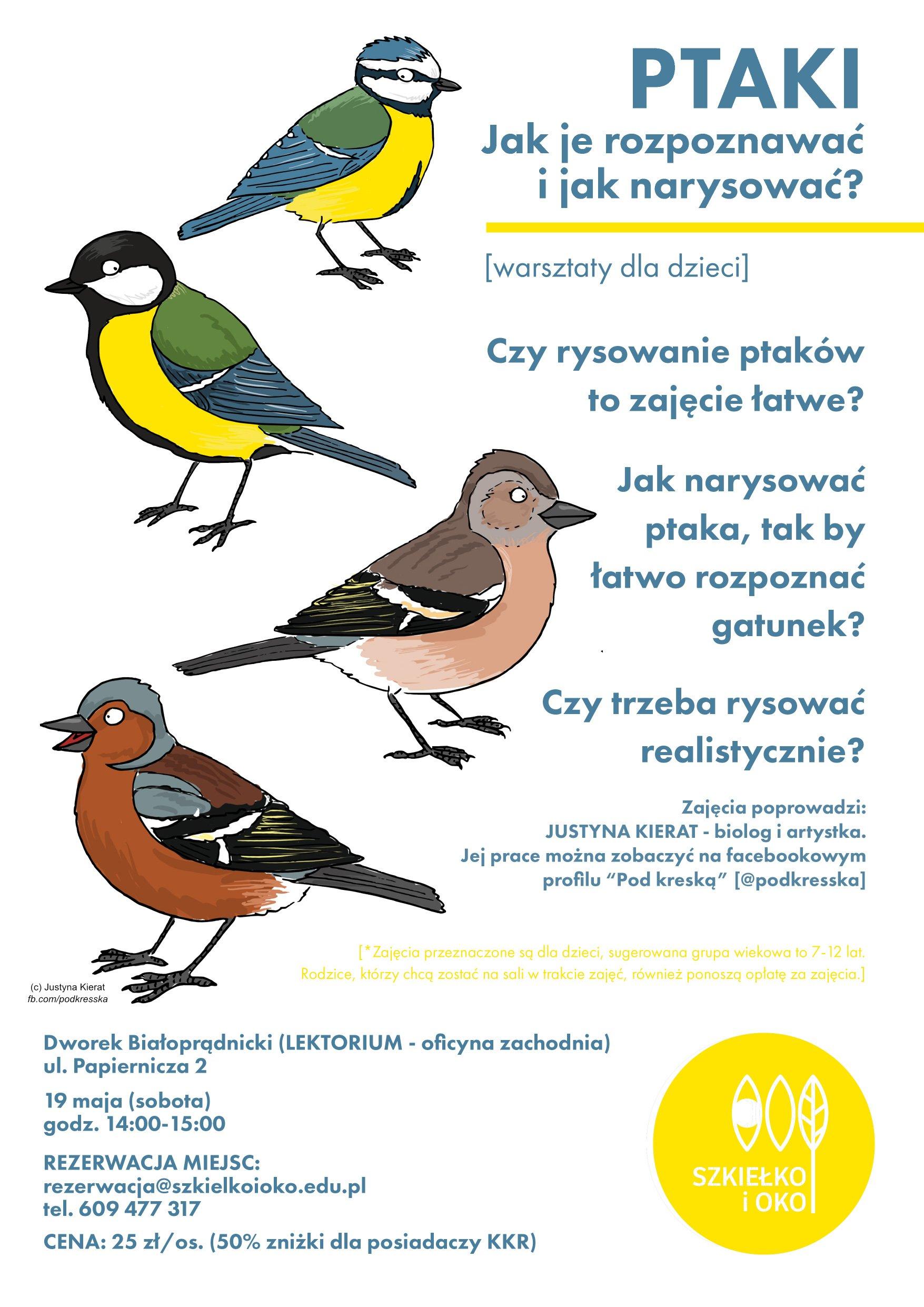 Ptaki - jak je rozpoznawać? Warsztaty przyrodnicze ze Szkiełkiem i Okiem