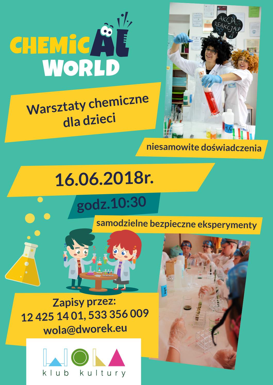 Warsztaty chemiczne z ChemicAl World w Klubie Kultury Wola!