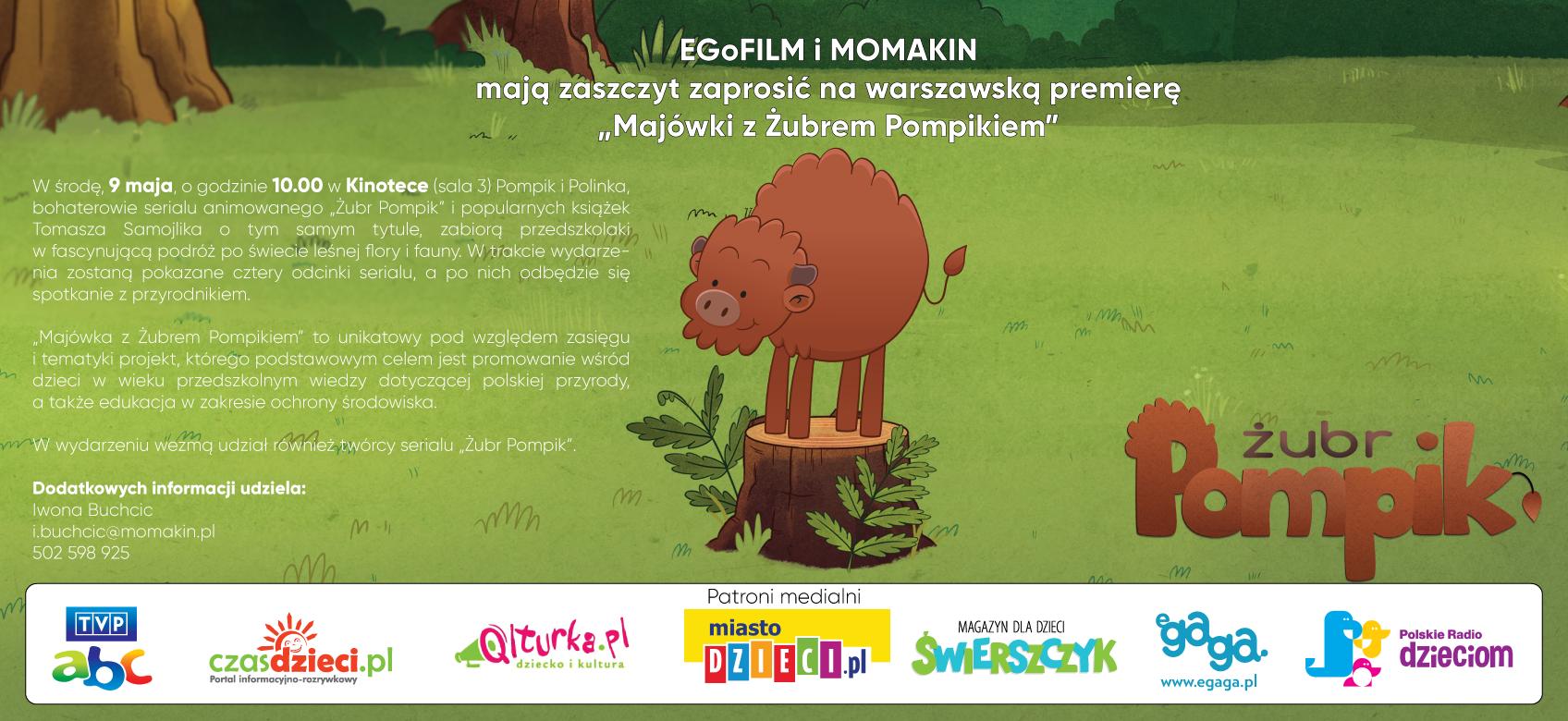 Majówka z Żubrem Pompikiem dla przedszkolaków