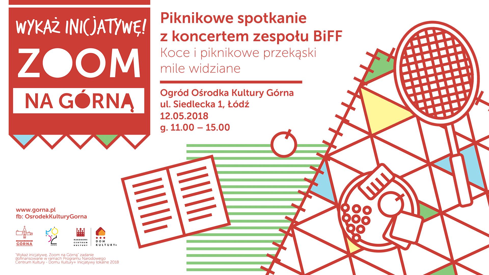 Piknikowe spotkanie + koncert zespołu BiFFw Ośrodku Kultury Górna