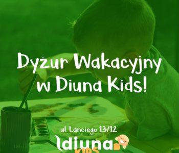 Dyżur wakacyjny w Przedszkolu Diuna Kids Ursynów Natolin