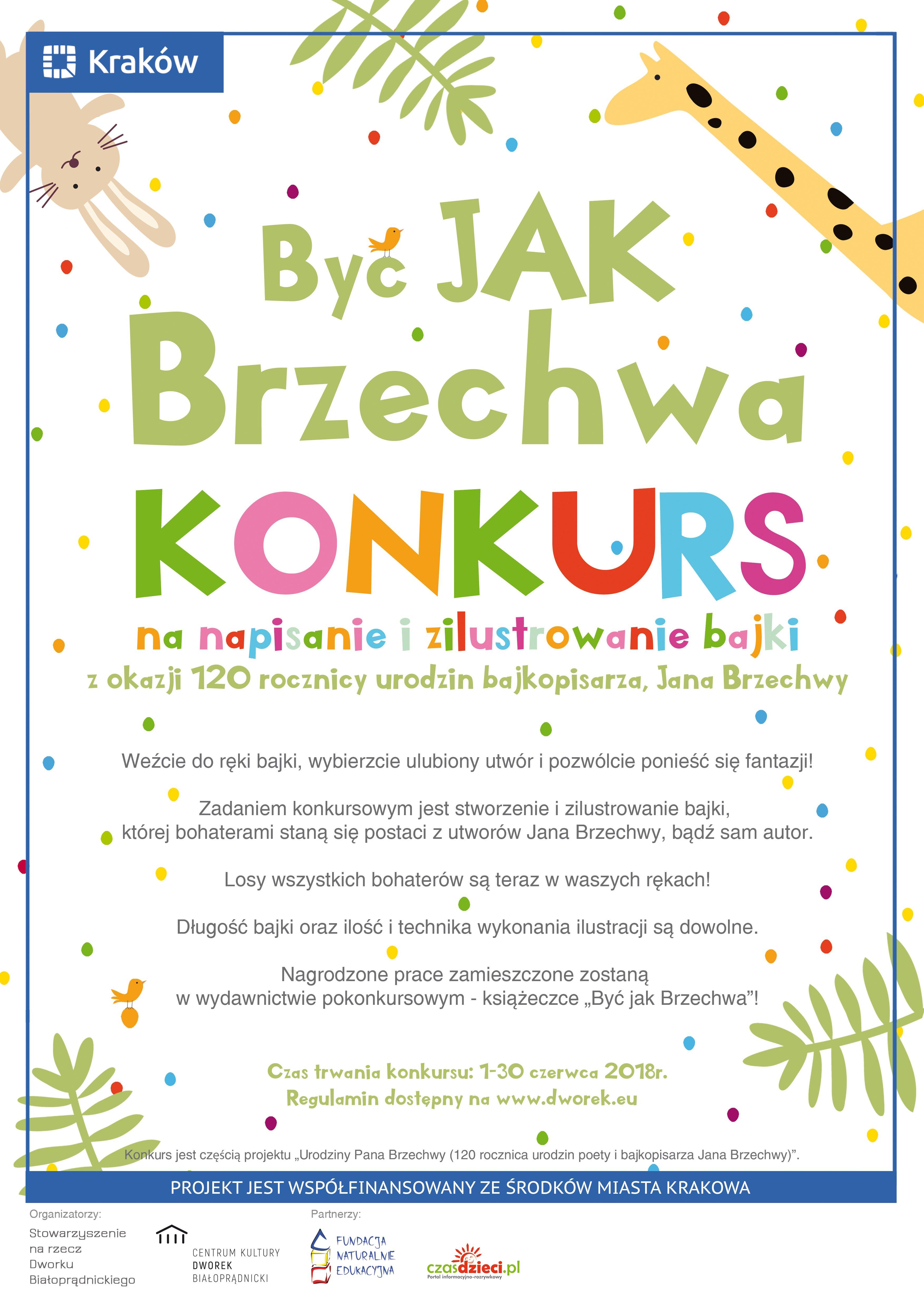 Konkurs literacko-ilustracyjny Być jak Brzechwa